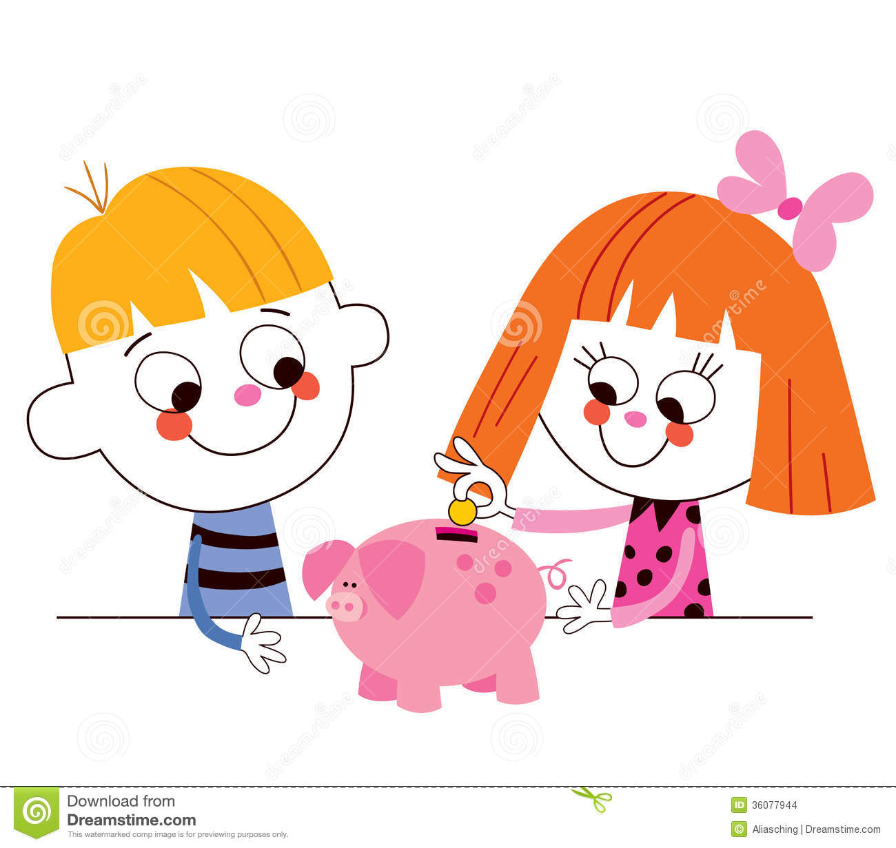 little-boy-girl-piggy-bank-children-s-savings-illustration-36077944